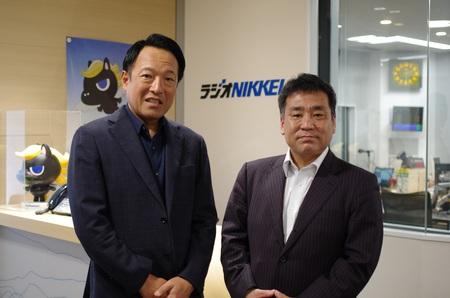代表・福井、 財産ネット 企業調査部長 藤本氏画像
