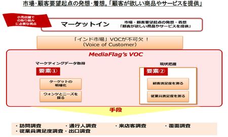 Voice of Customer調査サービスイメージ図表