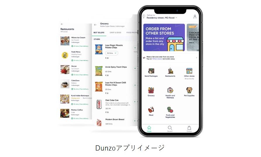 Dunzoアプリイメージ画像